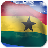 3D Ghana Flag Live Wallpaper +