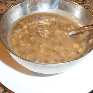 Mung Beans Cooked in Sweet Syrup.