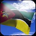 3D Mozambique Flag + icon