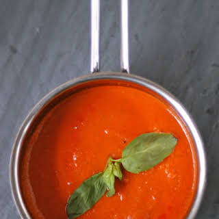 Five Ingredient Tomato-Basil Soup.