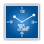 Blue Square Clock + alarm