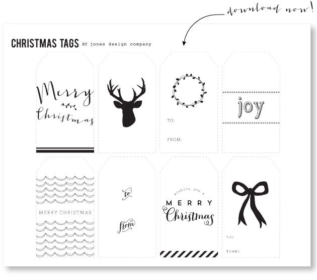 Freebie gift tags jones design company woodland christmas negle Images
