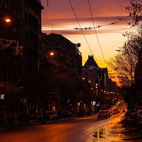 Twilight skylines by Matei Edu - City,  Street & Park  Street Scenes (  )