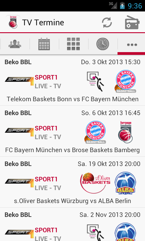 Brose Baskets - screenshot