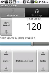 Record-a-Nome: Metronome/Rec. - screenshot thumbnail