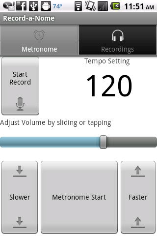 Record-a-Nome: Metronome/Rec. - screenshot