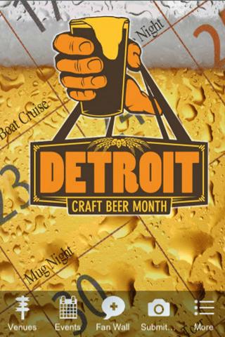 Detroit Craft Beer Month App - screenshot
