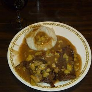 Big Joe's Venison Steak in Chestnut Sauce.