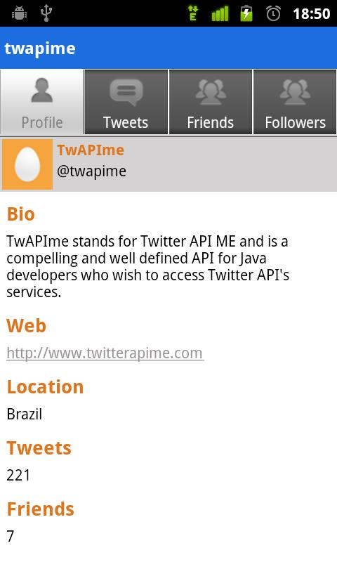 TwAPIme - screenshot