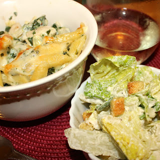 Spinach and Artichoke Baked Penne with Chicken