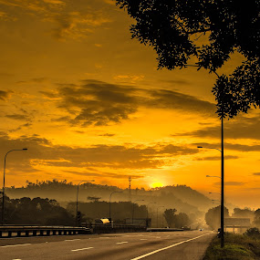 Mist from far  by Stephen Ckk - Landscapes Sunsets & Sunrises