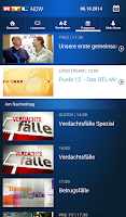Screenshot of RTL NOW