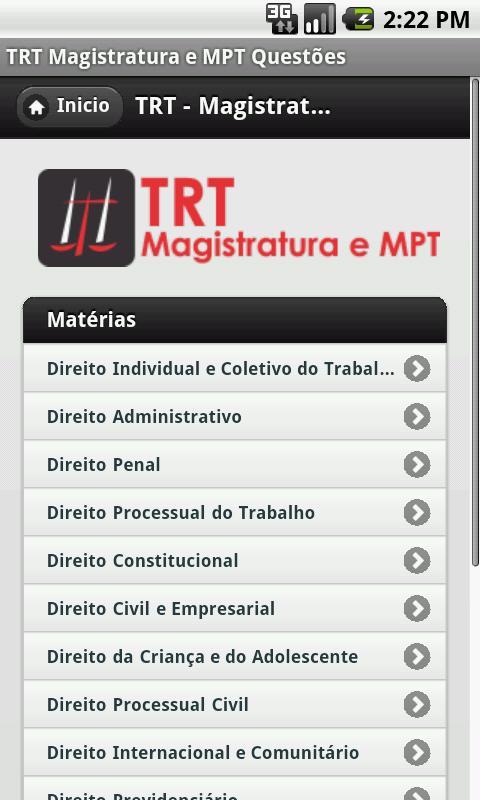 TRT - Magistratura e MPT- screenshot
