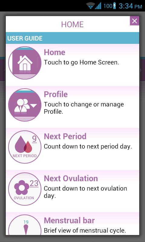 Menstrual Cycle - Woman Log - screenshot
