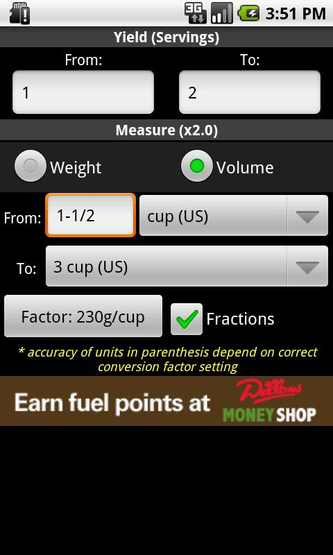 Recipe Convert Free- screenshot