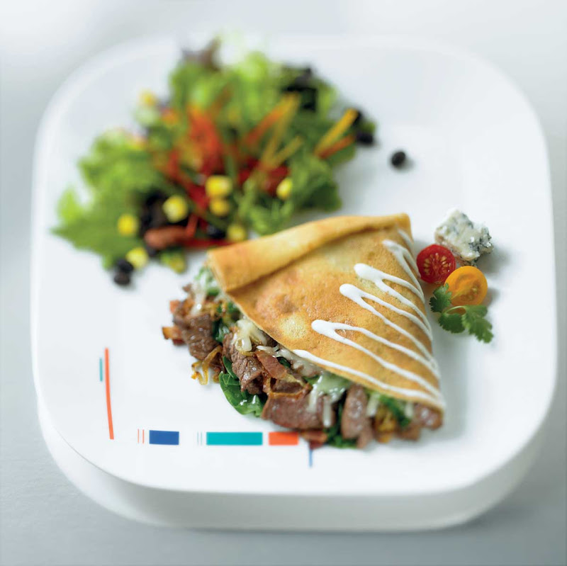 The Bistro Cowboy Crepe, found at Celebrity Cruises's Bistro on Five, will satisfy your cravings for sweet and savory.