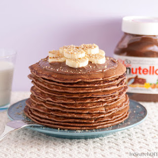 Nutella Pancakes with Mascarpone Cream