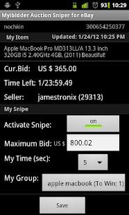 Myibidder Sniper for eBay Pro- screenshot thumbnail