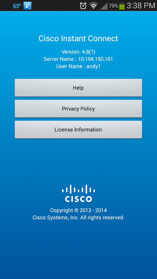 Cisco Instant Connect 4.8(x)- screenshot