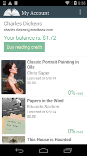 E-Books Reader App- screenshot thumbnail