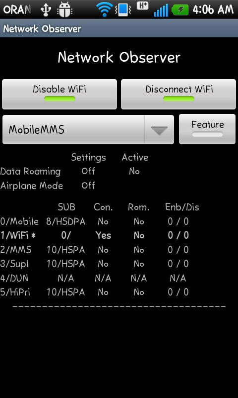 Android Services Utility - screenshot