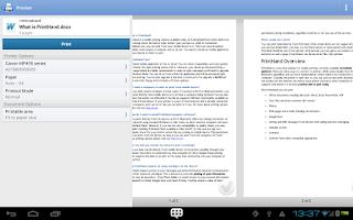 Screenshot of PrintHand Mobile Print