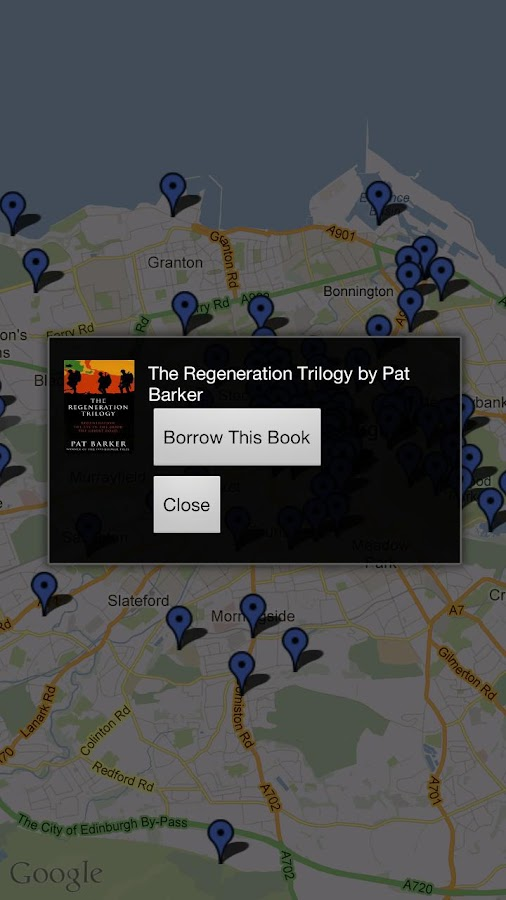 Edinburgh Libraries- screenshot