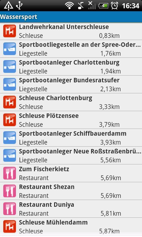 Wassersport- screenshot