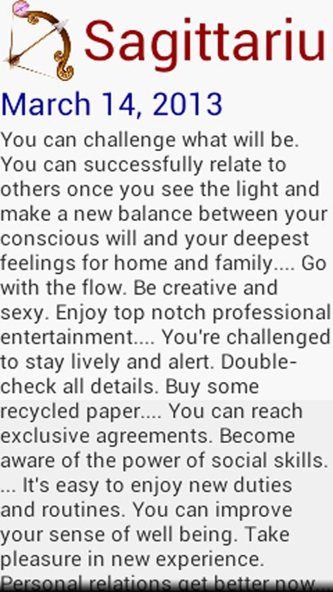 Daily Prediction Horoscope- screenshot