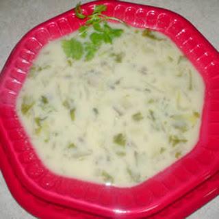 Mushroom and Endive Soup.