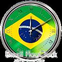 ブラジル国旗の時計ウィジェット icon