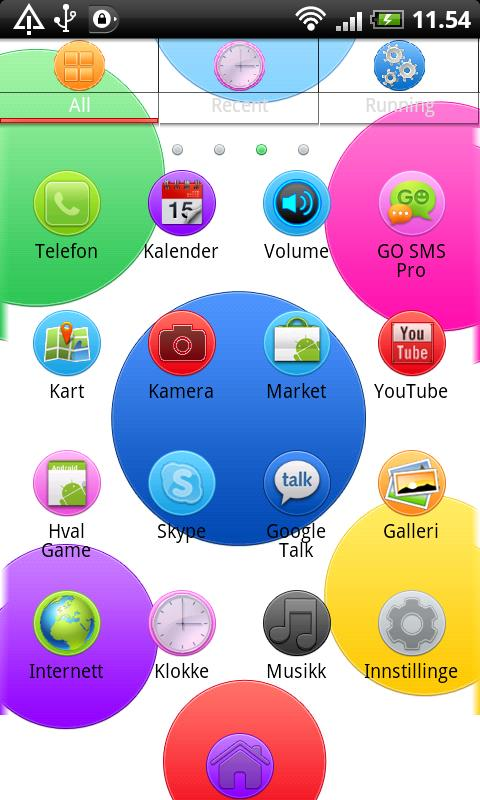 Colorful Circle GO Launcher EX - screenshot