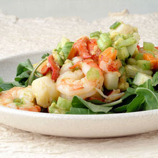Seafood Avocado Salad with Ginger.
