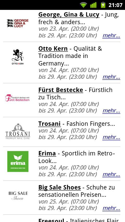 Shopping Clubs # Outlet-App- screenshot