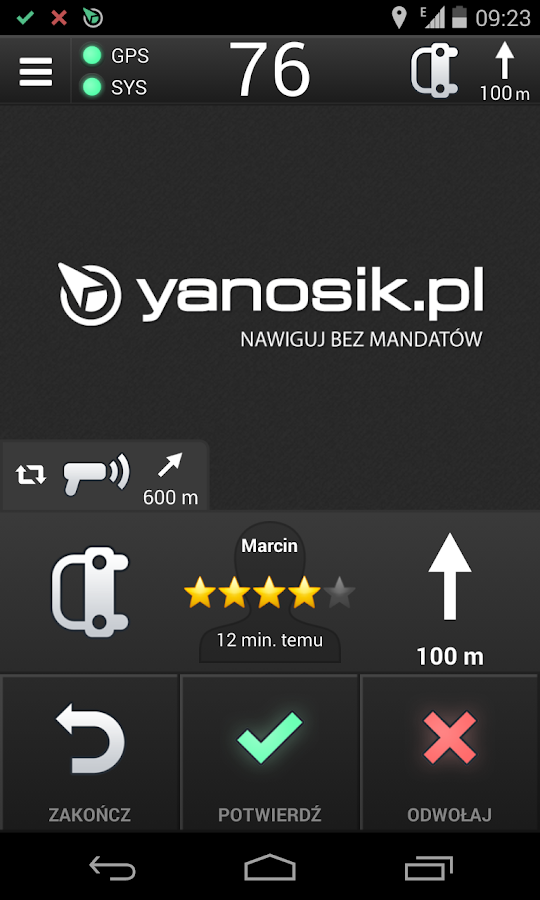 Yanosik - screenshot