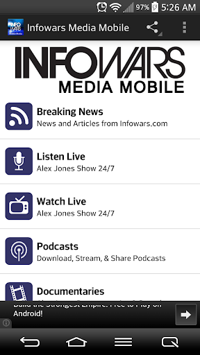 Infowars Media Mobile screenshot