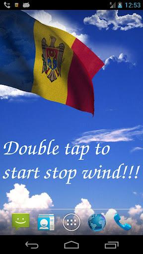 3D Moldova Flag LWP
