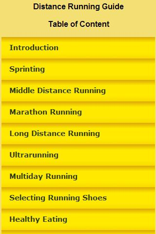 Distance Running Guide