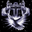 Jesus holding thorn crown LWP logo
