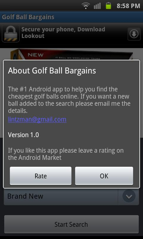 Golf Ball Bargains - screenshot
