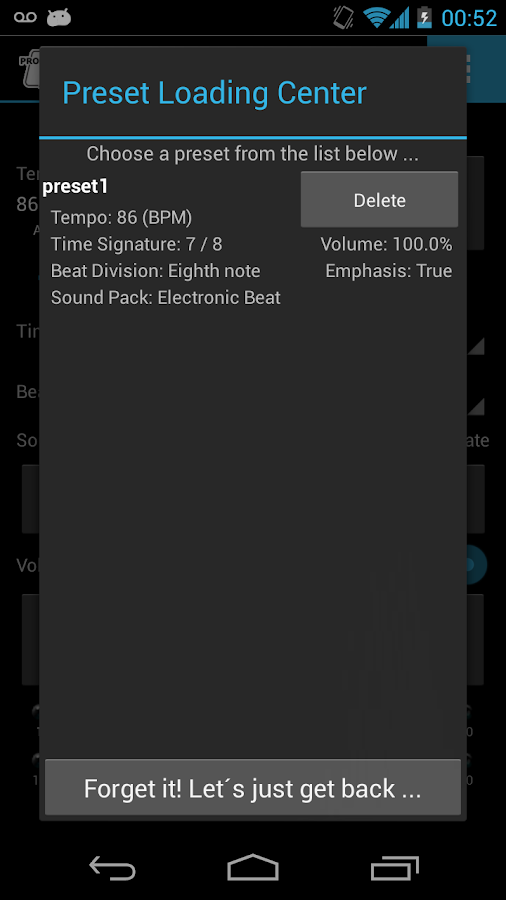 Mobile Metronome Pro - screenshot
