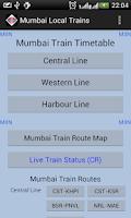 Screenshot of Mumbai Local Train Timetable