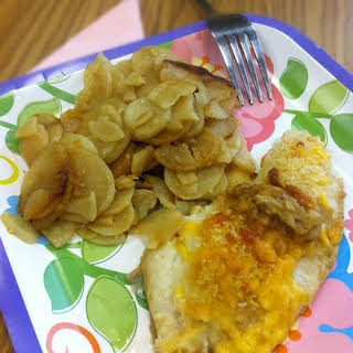 Cheddar and Ale Tilapia.