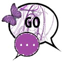 GO SMS THEME/purplebutterfly icon