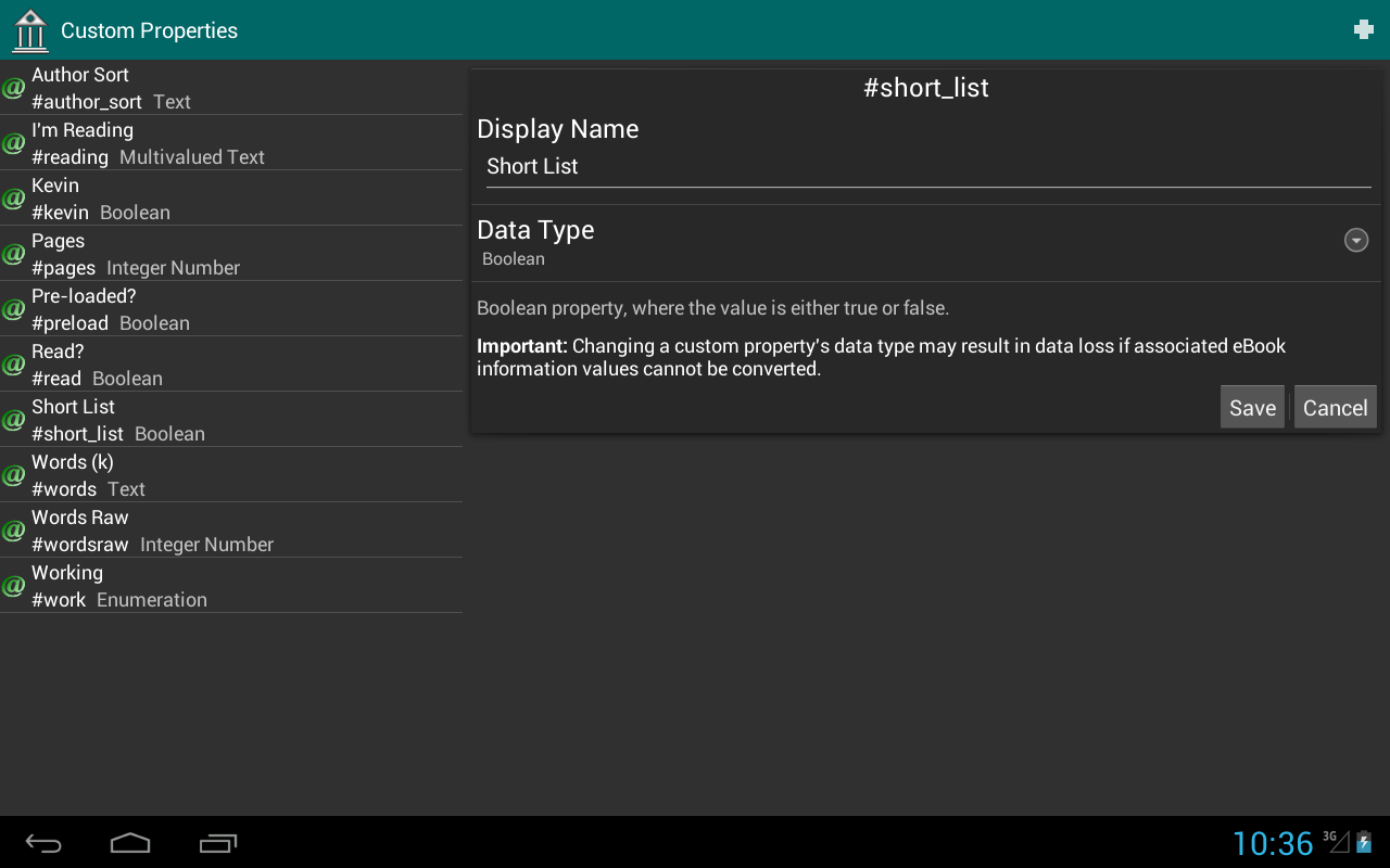 eLibrary Manager - screenshot