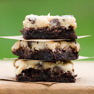 Cookie Dough Topped Brownies.
