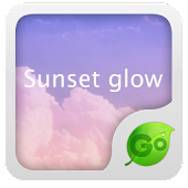 GO Keyboard Sunset glow theme