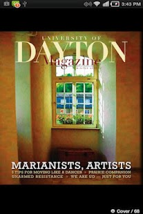 University of Dayton Magazine- screenshot thumbnail