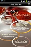 Screenshot of iCocinar Cocina Mexicana