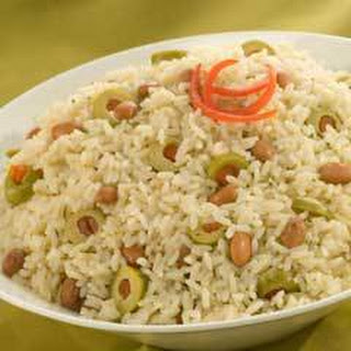Rice & Bean Salad With Olives.